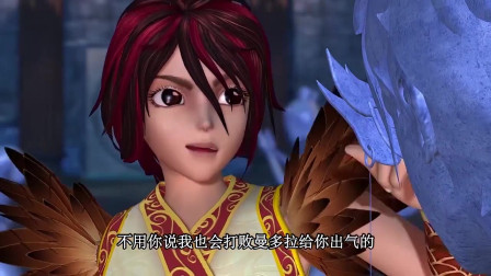 孩子爱看动画片精灵梦叶罗丽:不用舒言说,建鹏也会打败曼多拉给舒言出气的