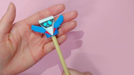 拿出一张纸,改造你的笔!带到学校里,倍儿有个性!会折纸,就是这么任性!