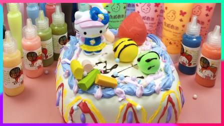灵犀小乐园之美食小能手 凯蒂猫草莓棉花糖蛋糕食玩