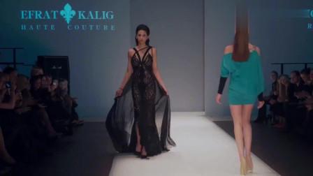 时装秀:经典的条纹元素,简约时尚,美丽大方