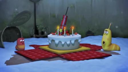 爆笑虫子:俩虫子在圣诞节收到神秘蛋糕,不敢相信自己的眼睛