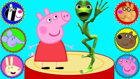 超益智!小猪佩奇和朋友的头像怎么都错了?学色彩英语儿童早教益智游戏玩具