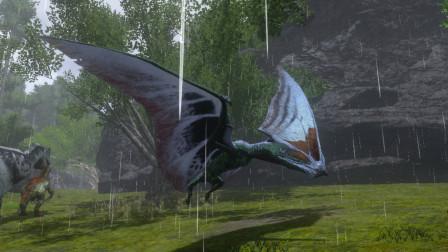 方舟生存进化:机缘巧合找到一只古神翼龙