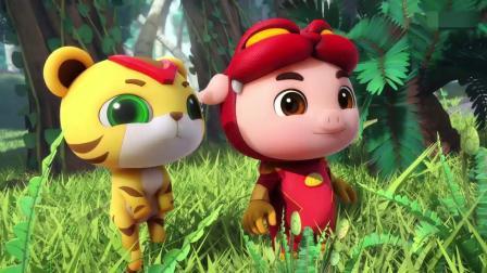 猪猪侠:猪猪侠觉得板龙遭到袭击,阿五却说不可能,它可是巨无霸