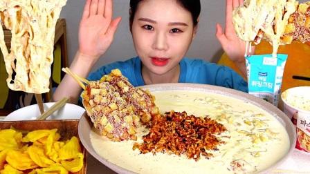 【Fran卡妹】 奶油泡菜炒饭热狗棒+芝士球薯条+烤虾仁吐司