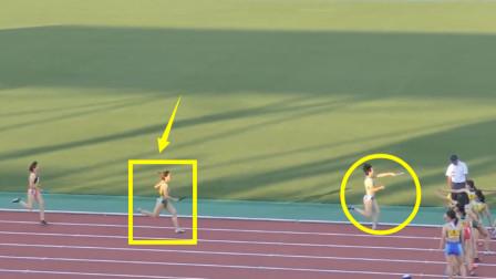 非人类?前三棒落后3米远,但20岁女飞人最后爆发逆转反赢5米夺冠