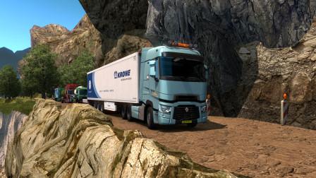 欧洲卡车模拟2:卡车也会有高原反应,最新款雷诺在山巅行车动力衰减太明显