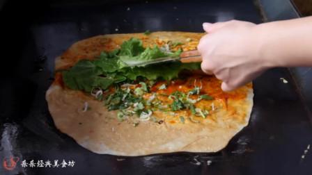 韩国:中式蛋饼,韩国街头美食,美味小吃