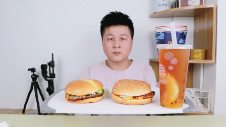 """外卖46元汉堡王新品""""好虾好牛堡""""火烤牛肉饼搭配超大虾仁,真香"""