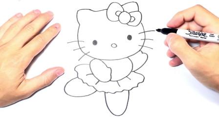 儿童简笔画;如何绘制Hello Kitty小猫的Hello Kitty绘图