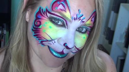 面部彩绘妆容,性感魅惑,小姐姐技术超好十分有创意