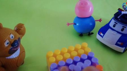 超级飞侠警察珀利解决猪爸爸遇到的问题