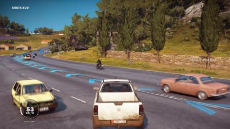 正当防卫3:书生开跑车到达城市后被汽车丢下来汽车自己跑掉了