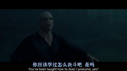 伏地魔与哈利波特单挑,哈利波特父母的灵魂,出来帮助哈利波特逃出生天