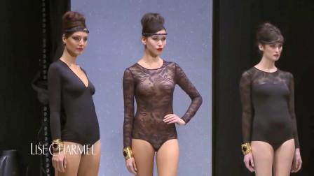 三种不同款式的黑,蕾丝拼接公益,展现不同的美感