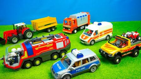 汽车小镇彩色工程车汽车玩具开展工作