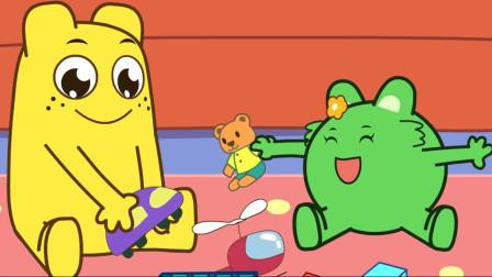 咕力咕力-我会刷牙 绿咕力得到了新牙刷,引导宝宝口腔卫生健康