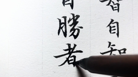 小楷《道德经》书法日课:自知者明