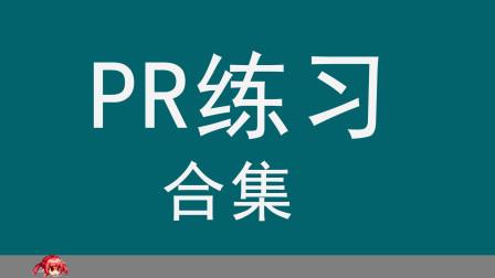 【PR教程】PR2019各种应用效果案例练习合集10把视频当做文字的填充