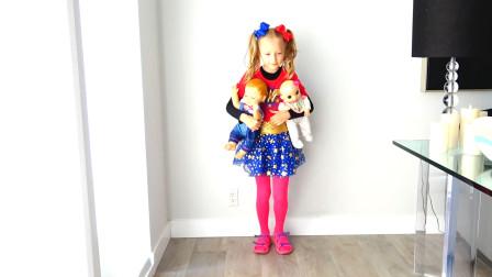 萌娃小可爱变身成为超级英雄,帮助了遇到困难的玩偶宝宝们,小家伙真是棒棒哒!