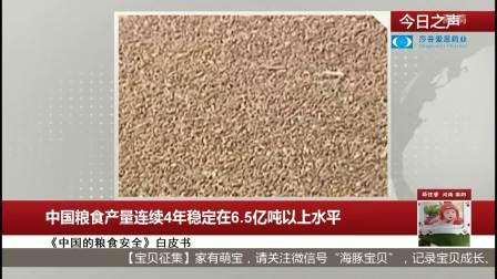 中国粮食产量连续4年稳定在6.5亿吨以上水平 每日新闻报 20191015 高清版