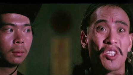 林正英客串洪金宝电影,这眉毛太有特点了,一看就不是个善茬!