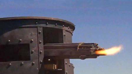 精彩的美国经典西部动作片,牛仔骑兵疯狂抢夺装甲马车