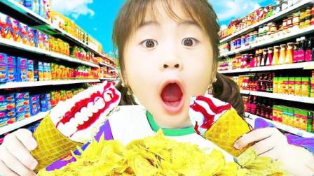 小萝莉吃薯片冰淇淋水果唱儿歌
