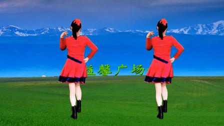 嗨这个是你要找的广场舞梦中的兰花花背面示范吗