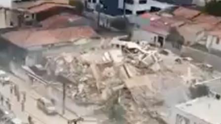 巴西东北部塞阿拉州一居民楼坍塌 已致1人死亡