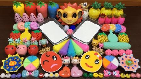 """把""""菠萝""""和""""草莓""""混合73种材料,做无硼砂泥,最后能成功吗?"""