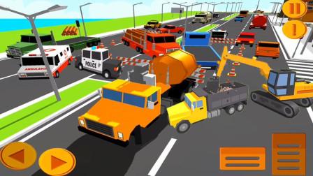 【永哥玩游戏】挖掘机城市建设 方块人挖掘机飞机场建设