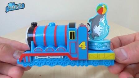 托马斯积木拼接车厢小火车趣味音乐盒玩具