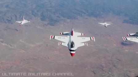 传奇美国空军雷鸟飞行表演队的新镜头重新发布
