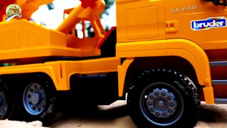 装载车自卸车挖掘机和大卡车玩具,儿童车辆玩具