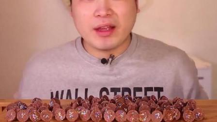 韩国吃播大胃王-donkey吃这种巧克力,小可爱们看着有食欲吗?