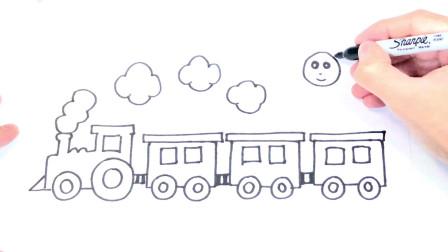 儿童简笔画;如何绘制火车一步一步的火车绘图