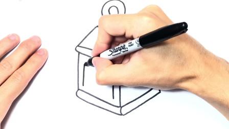 儿童简笔画;如何绘制灯笼一步一步灯笼图