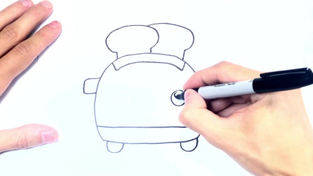 儿童简笔画;如何绘制烤面包机一步一步烤面包机绘图