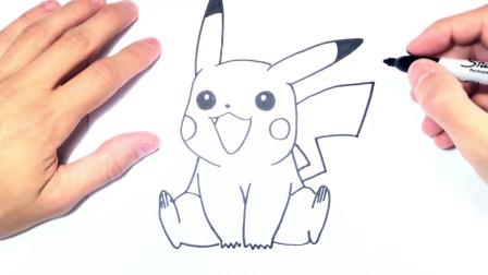 儿童简笔画;如何绘制皮卡丘一步一步皮卡丘绘图