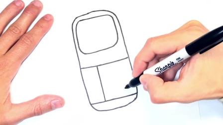 儿童简笔画;如何绘制移动电话或移动电话
