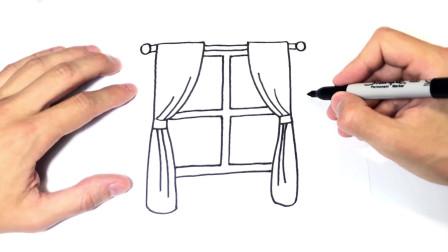 儿童简笔画;如何绘制窗口一步一步窗口绘图