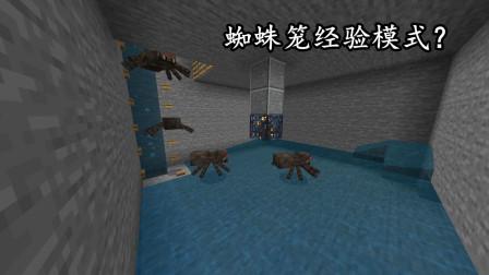 我的世界比较难的红石课题:蜘蛛笼经验模式