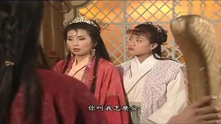 牛魔王两媳妇干架,法宝和丫鬟都一样,连长相也一模一样