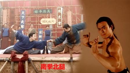重温南拳北腿,黄麒英大战严巴山,有板有眼的武打,看看也很过瘾