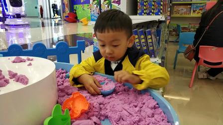 太空沙磨具玩具试玩视频