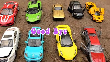 清洗汽车和轿车、赛车玩具,婴幼儿宝宝过家家游戏视频F598
