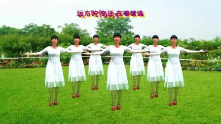 阳光美梅原创广场舞【秋风吹落一滴泪 】优美中三舞-编舞:美梅