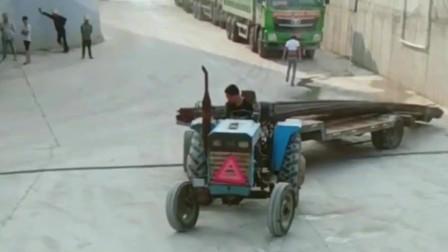 拖拉机当百吨王用,能不能拉动自己心里没点数吗!