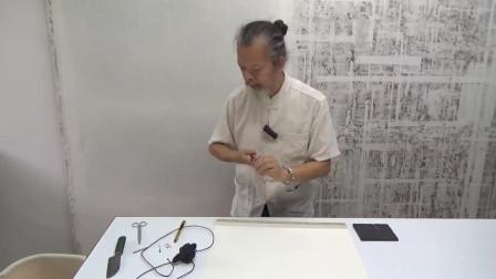 JCH 0107-J-2 澳门苏法融画观音像装裱过程实录之二
